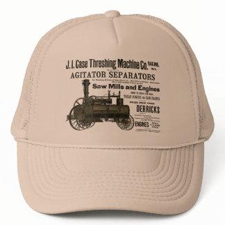1889 Threshing Machine Steam Engine Farm Farming Trucker Hat
