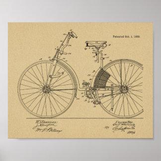 1889 Vintage Bicycle Dress Guard Patent Art Print