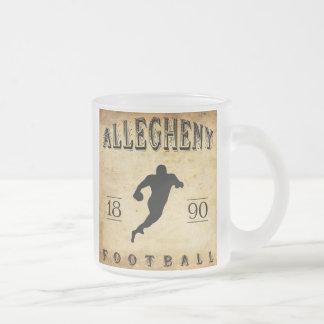 1890 Allegheny Pennsylvania Football Frosted Glass Coffee Mug