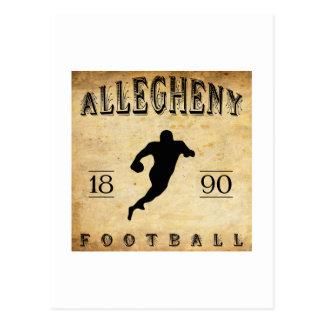 1890 Allegheny Pennsylvania Football Postcard
