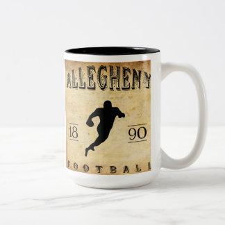 1890 Allegheny Pennsylvania Football Two-Tone Coffee Mug