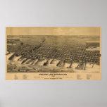1890 Ashland, mapa panorámico de la opinión de ojo Posters