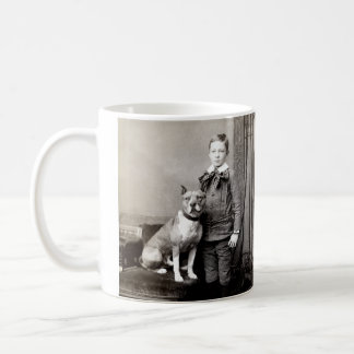 1890 Boy and his American Staffordshire Terrier Coffee Mug