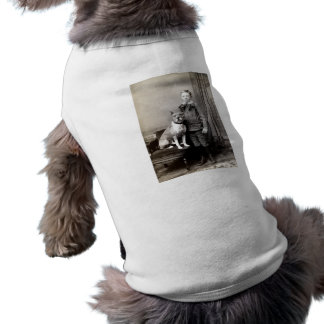 1890 Boy and his American Staffordshire Terrier Pet Tee Shirt