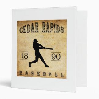 1890 Cedar Rapids Iowa Baseball 3 Ring Binder