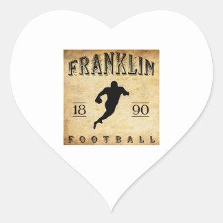 1890 Franklin Pennsylvania Football Heart Sticker