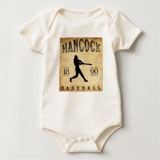 1890 Hancock Michigan Baseball Baby Bodysuit