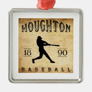 1890 Houghton Michigan Baseball Metal Ornament