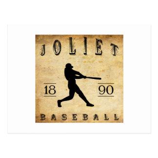1890 Joliet Illinois Baseball Postcard