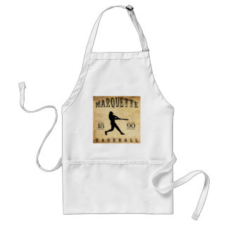 1890 Marquette Wisconsin Baseball Adult Apron