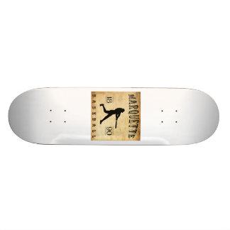 1890 Marquette Wisconsin Baseball Custom Skateboard