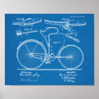 1890 Vintage Bicycle Brake Design Patent Art Print