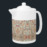 """1890 Vintage William Morris Acanthus Portière Teapot<br><div class=""""desc"""">The design on this product is inspired by """"Acanthus Portière"""" an 1890 piece designed by William Morris an English textile designer, poet novelist, translator, and social activist who lived from 1834 to 1896. Morris was a major contributor to the revival of traditional British textile arts and methods of production. Much...</div>"""