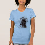 1890 Woman and her Brittany Hunting Dog Shirts