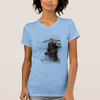 1890 Woman and her Brittany Hunting Dog T-Shirt