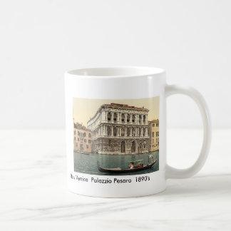 1890's de Italia Venecia Palazzo Pesaro Taza Básica Blanca