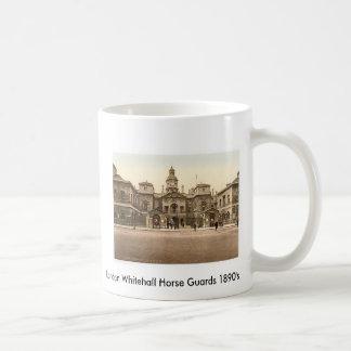 1890's de los guardias de caballo de Londres White Tazas De Café