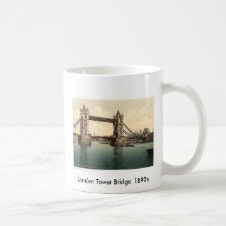 1890's del puente de LondonTower Taza De Café