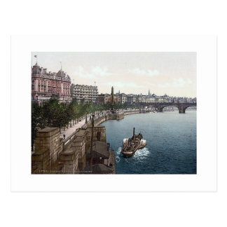 1890's del terraplén de Inglaterra Londres Thames Tarjetas Postales