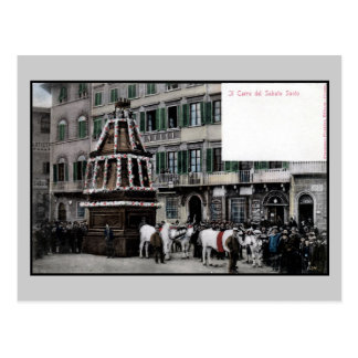 1890s Florence Italy Scoppio del Carro spectacle Postcard