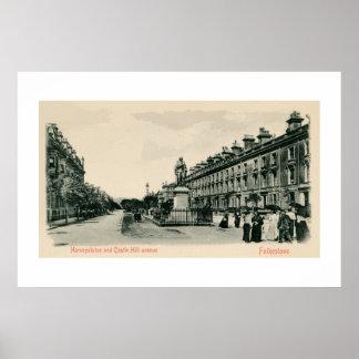 1890s Folkestone Castle Hill Avenue, Statue Poster
