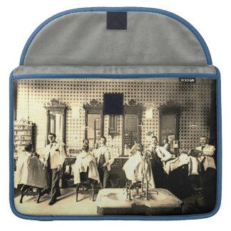1890's Mens Barber Shop Hair Salon Photograph MacBook Pro Sleeve