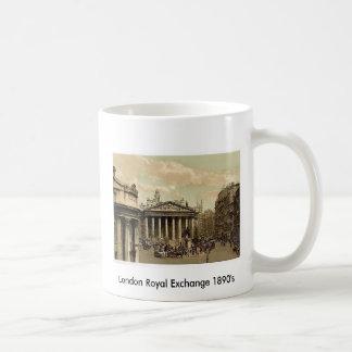 1890's reales del intercambio de Londres Taza Básica Blanca