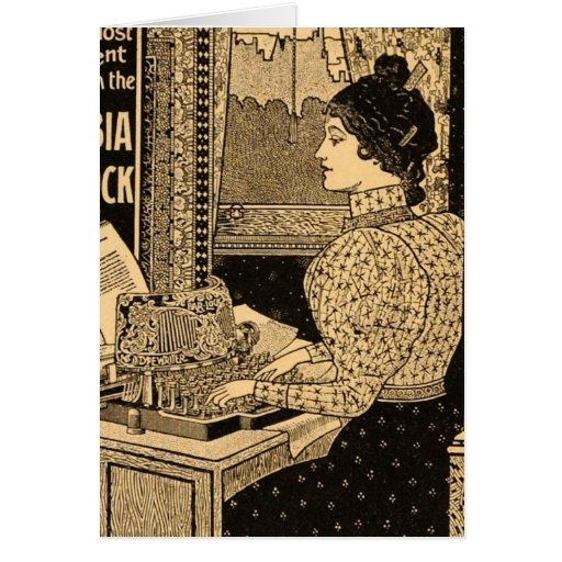 1890's Secretary at Typewriter Card