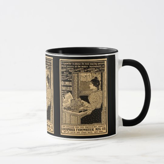 1890's Secretary at Typewriter Mug