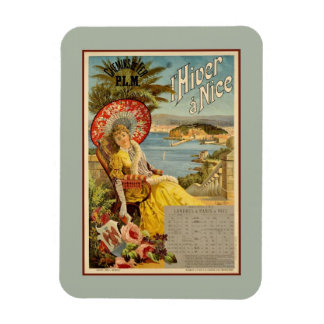 1890s Winter in Nice France travel ad Rectangular Photo Magnet