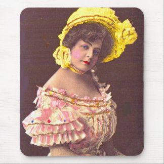 1890s woman in frilly attire mouse pad