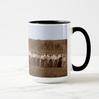 1890's  Women Tug of War Tug-O-War sepia  Elgin IL Mug