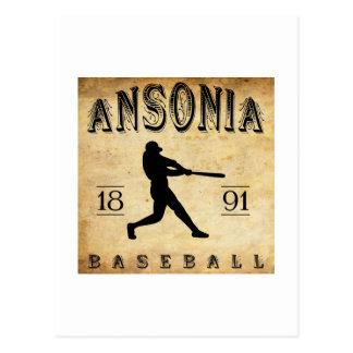 1891 Ansonia Connecticut Baseball Postcard