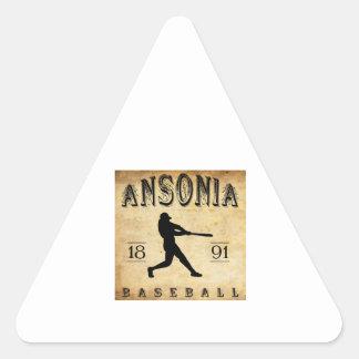 1891 Ansonia Connecticut Baseball Triangle Sticker