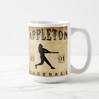 1891 Appleton Wisconsin Baseball Coffee Mug