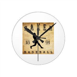 1891 Baker Oregon Baseball Clocks