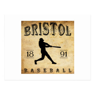1891 Bristol Connecticut Baseball Postcard