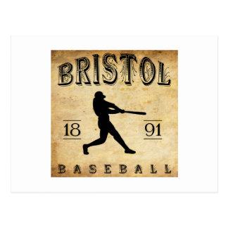 1891 Bristol Connecticut Baseball Postcard