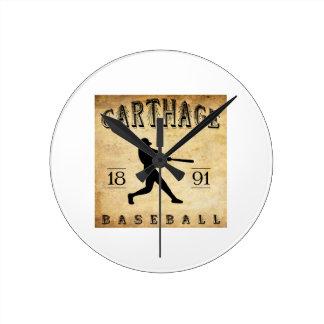 1891 Carthage Missouri Baseball Round Clocks
