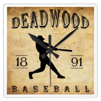 1891 Deadwood South Dakota Baseball Clock