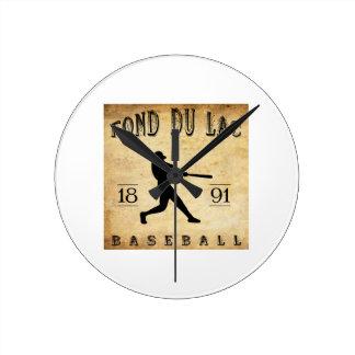 1891 Fond du Lac Wisconsin Baseball Clock