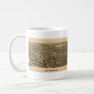 1891 Fort Worth, TX Panoramic Map Coffee Mug