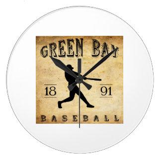 1891 Green Bay Wisconsin Baseball Wall Clock