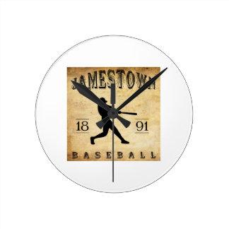 1891 Jamestown New York Baseball Round Clocks