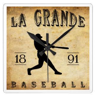 1891 La Grande Oregon Baseball Square Wallclock