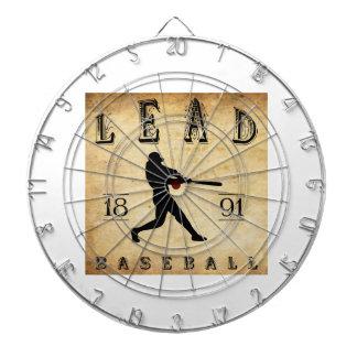 1891 Lead South Dakota Baseball Dartboard With Darts