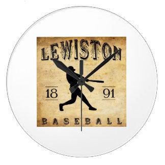 1891 Lewiston Maine Baseball Wall Clock