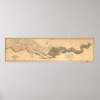 1891 Map Anacostia River Delaware Washington D.C. Poster