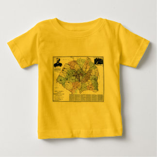 1891 Map of Washington City & Surrounding Country T-shirts