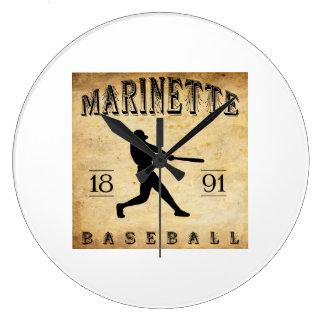 1891 Marinette Wisconsin Baseball Wallclocks